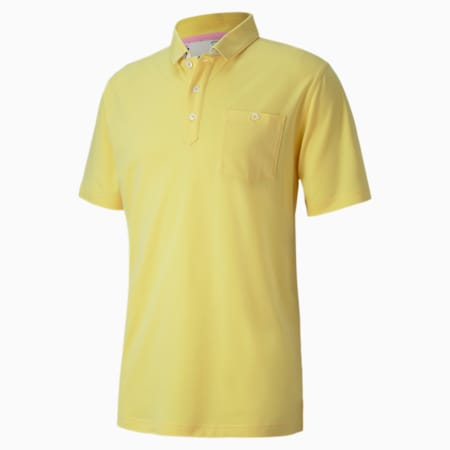 Signature Pocket Men's Golf Polo Shirt, Dusky Citron, small-IND