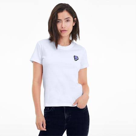 DIGITAL LOVE ウィメンズ Tシャツ 半袖, Puma White, small-JPN