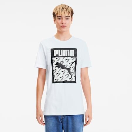 PUMA Men's Logo T-Shirt, Puma White, small-IND