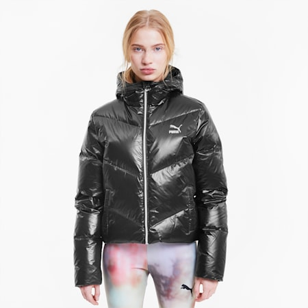 Classics Shine Women's Down Jacket, Puma Black, small-IND