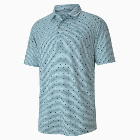 Cloudspun Scatter Men's Polo, Milky Blue, small