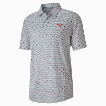 CLOUDSPUN Scatter Men's Golf Polo Shirt, Pureed Pumpkin, small-IND