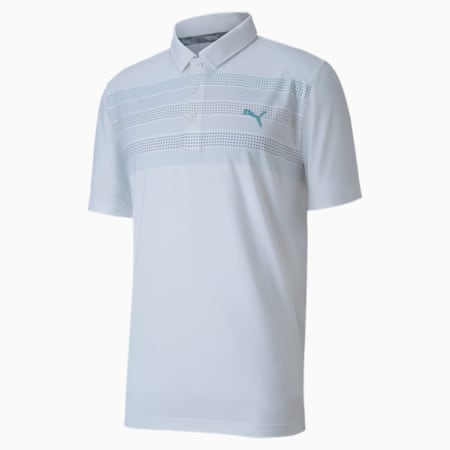 Road Map golfpolo voor heren, Bright White, small