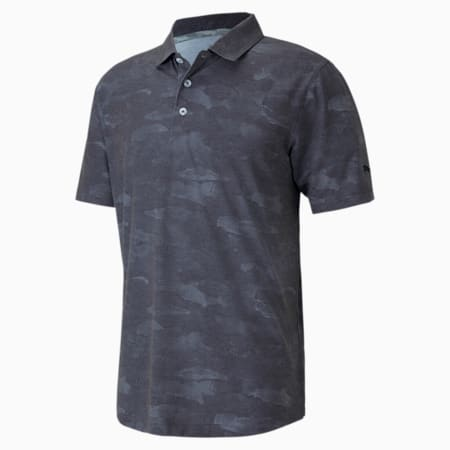 Solarised Camo dryCELL Men's Golf Polo Shirt, Puma Black, small-IND