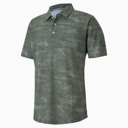 Solarised Camo dryCELL Men's Golf Polo Shirt, Thyme, small-IND