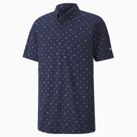 Piqué P dryCELL Men's Golf Polo, Peacoat, small-IND