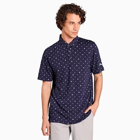 Piqué P Herren Golf Poloshirt, Peacoat, small