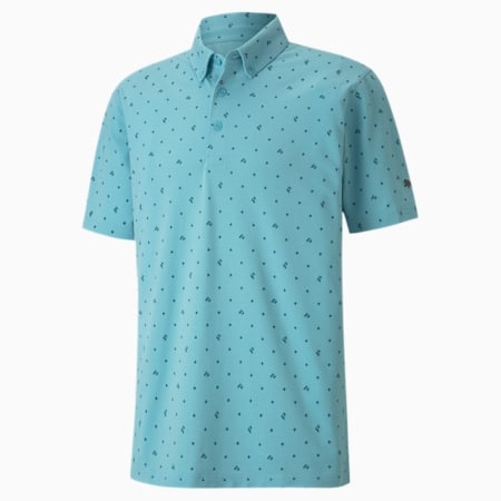 Piqué P dryCELL Men's Golf Polo, Milky Blue, small-IND