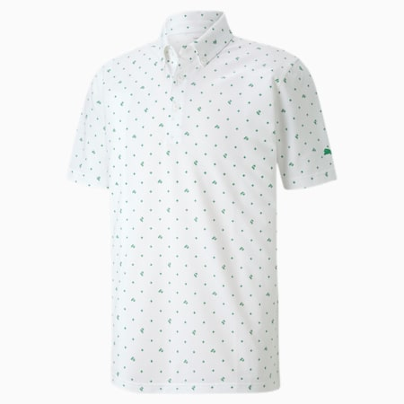 Piqué P Men's Golf Polo, Amazon Green, small-SEA