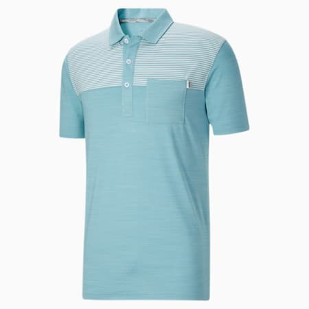 CLOUDSPUN Men's Pocket Polo, Milky Blue Heather, small
