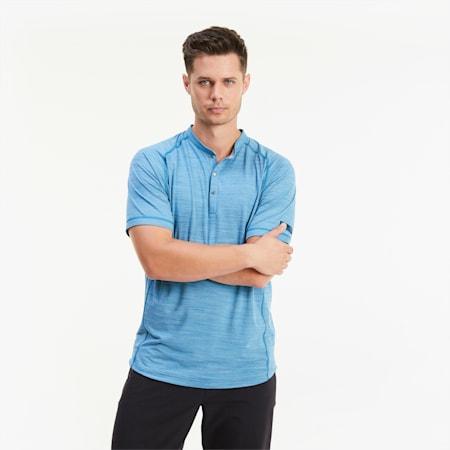CLOUDSPUN Henley golfshirt voor heren, Digi-blue, small