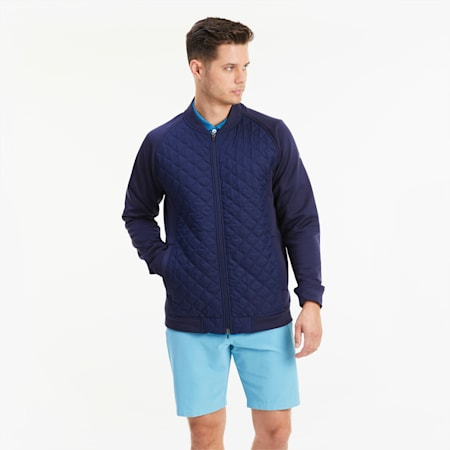 Primaloft® Stlth Padded Men's Golf Jacket, Peacoat, small
