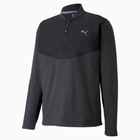 CLOUDSPUN Stealth Quarter-Zip Men's Sweat Shirt, Puma Black Heather, small-IND
