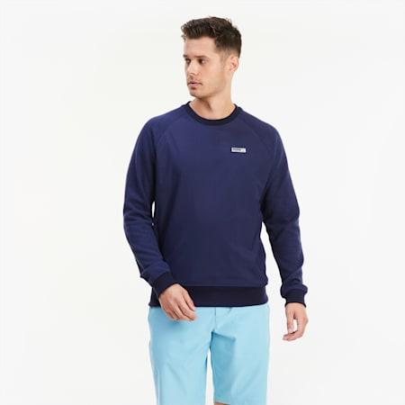 Runway Herren Golf Sweatshirt, Peacoat Heather, small