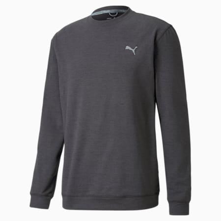 CLOUDSPUN Crew Men's Golf Sweat Shirt, Puma Black Heather, small-IND