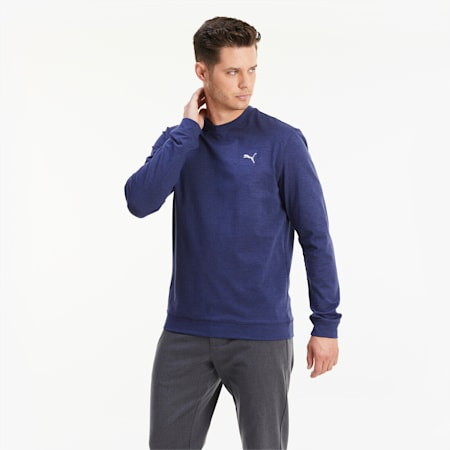Sweat CLOUDSPUN Golf pour homme, Peacoat Heather, small