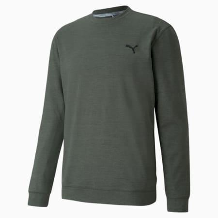 CLOUDSPUN Crew Men's Golf Sweat Shirt, Thyme Heather, small-IND