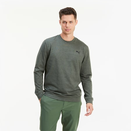 CLOUDSPUN Herren Golf Sweatshirt, Thyme Heather, small