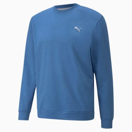 CLOUDSPUN Crew Men's Golf Sweat Shirt, Federal Blue Heather, small-IND