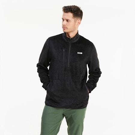 Sherpa Quarter Zip Herren Golf-Fleece, Puma Black, small