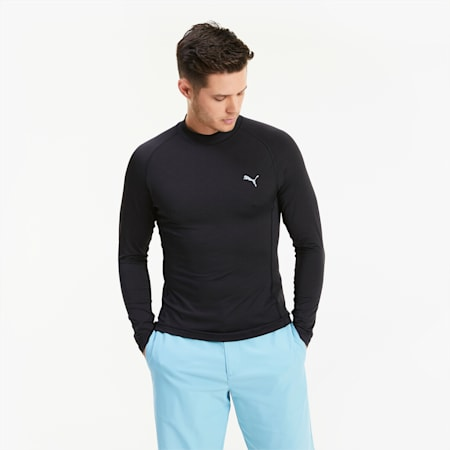 Baselayer Herren Golf Langarmshirt, Puma Black, small