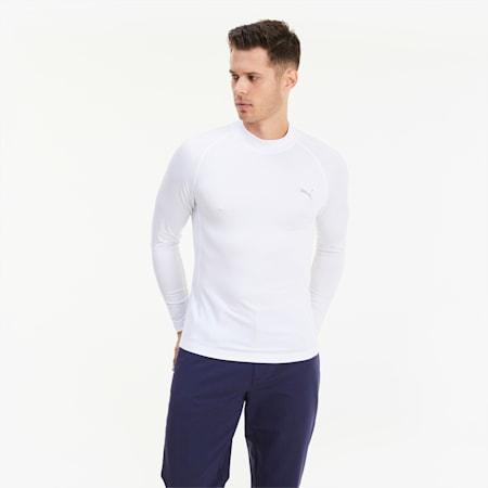Baselayer Herren Golf Langarmshirt, Bright White, small