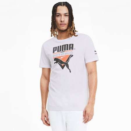 Tailored for Sport Men's Graphic T-Shirt, Puma White, small-IND