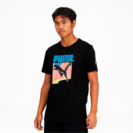 Tailored for Sport Men's Graphic Tee, Puma Black, small