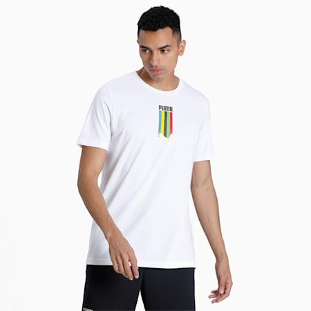 TFS Graphic T-shirt voor heren, Puma White-gold, small