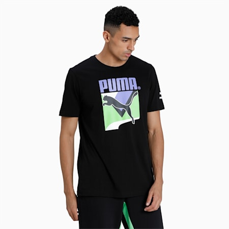 T-Shirt TFS Graphic homme, Puma Black, small