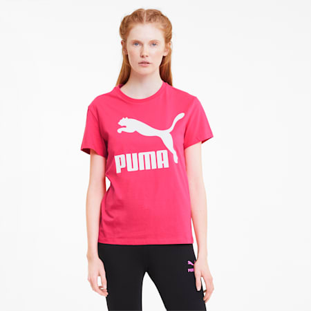 Classics Logo Women's Tee, Glowing Pink, small