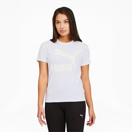 Classics Women's Logo Tee, Puma White-glitter, small