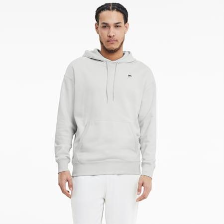 Downtown Men's Hoodie, Vaporous Gray, small