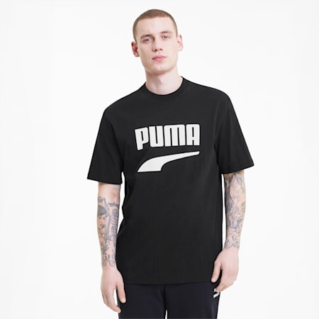 Downtown Men's Graphic Tee, Puma Black, small