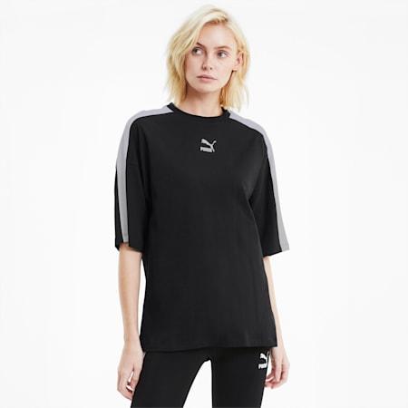 T-Shirt Classics T7 décontracté pour femme, Puma Black, small