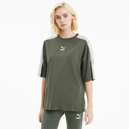 Classics T7 Women's Loose Fit Tee, Thyme, small