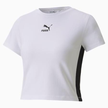 Classics Cropped Short Sleeve Women's Tee, Puma White, small
