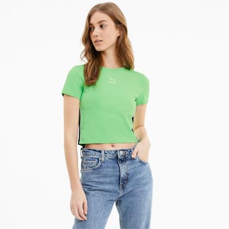 Classics Cropped Short Sleeve Women's Tee, Summer Green, small-SEA