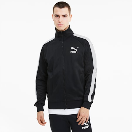 Iconic T7 Full Zip Men's Track Jacket, Puma Black, small-IND