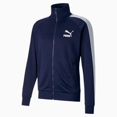 Iconic T7 Full Zip Men's Track Jacket, Peacoat, small