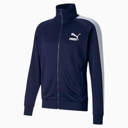Iconic T7 Full Zip Men's Track Jacket, Peacoat, small-GBR