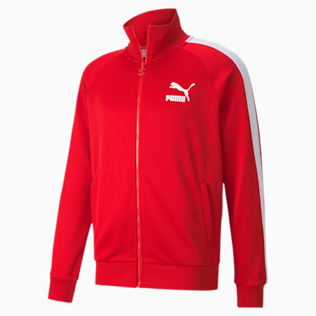 Iconic T7 Full Zip Men's Track Jacket, High Risk Red, small