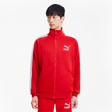 Iconic T7 Full Zip Men's Track Jacket, High Risk Red, small-SEA