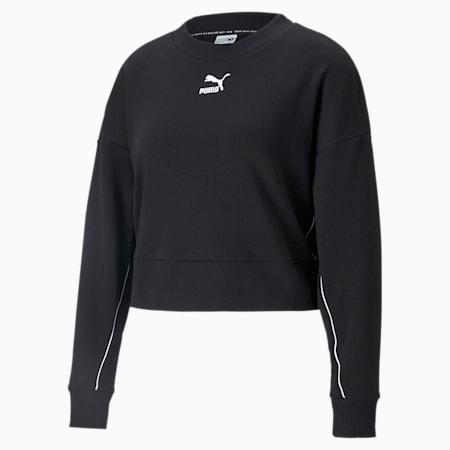 Classics Cropped Women's Sweater, Puma Black, small-IND
