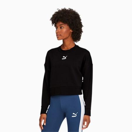 Classics Damen Kurzes Sweatshirt, Puma Black, small