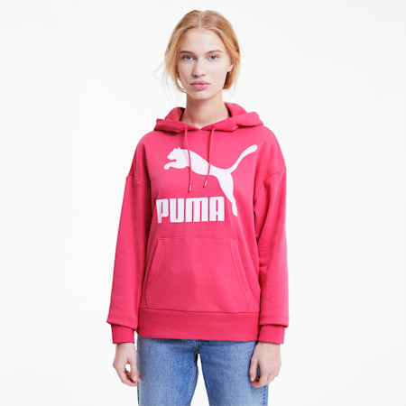 Classics Logo Women's Hoodie, Glowing Pink, small