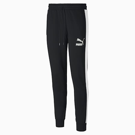 Pantalones deportivos Iconic T7 para hombre, Puma Black, pequeño