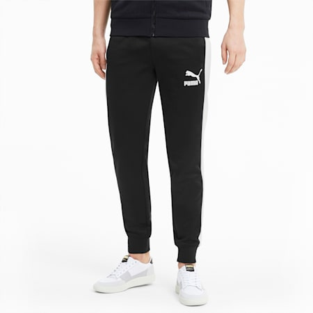 Iconic T7 Men's Slim Fit Track Pants, Puma Black, small-IND