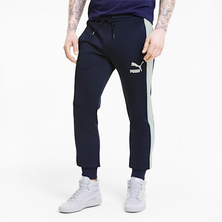 Iconic T7 Men's Track Pants, Peacoat, small-GBR