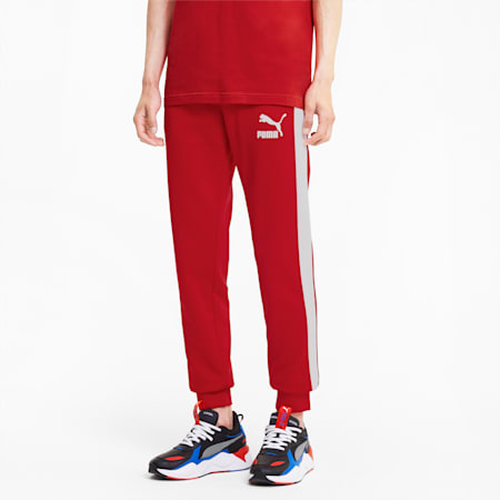 Iconic T7 Men's Track Pants, High Risk Red, small